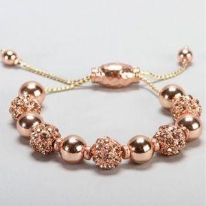 BaubleBar rose gold bracelet
